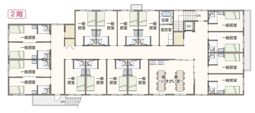 住宅型有料老人ホーム まごころ 施設間取図